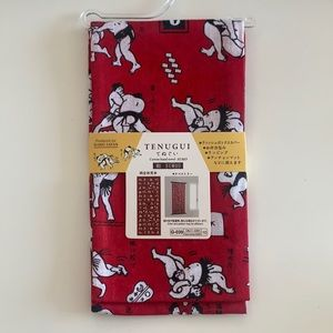NWT Cotton hand towel red